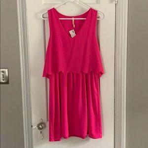 Fuchsia Scalloped Dress